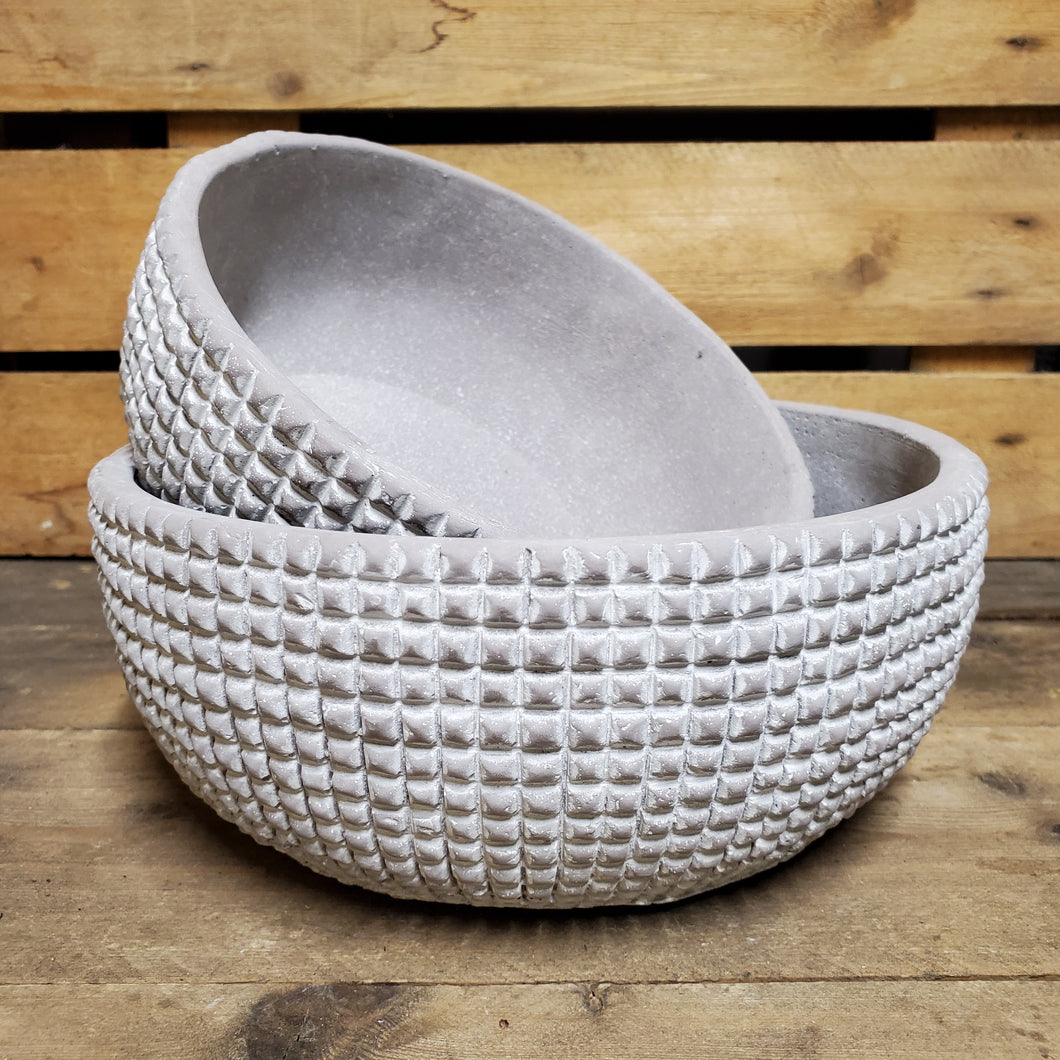 Grey Geometric Lowbowl