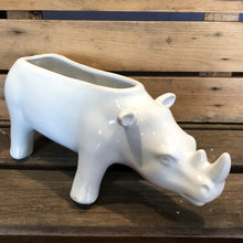 Load image into Gallery viewer, Ceramic Rhinoceros Planter