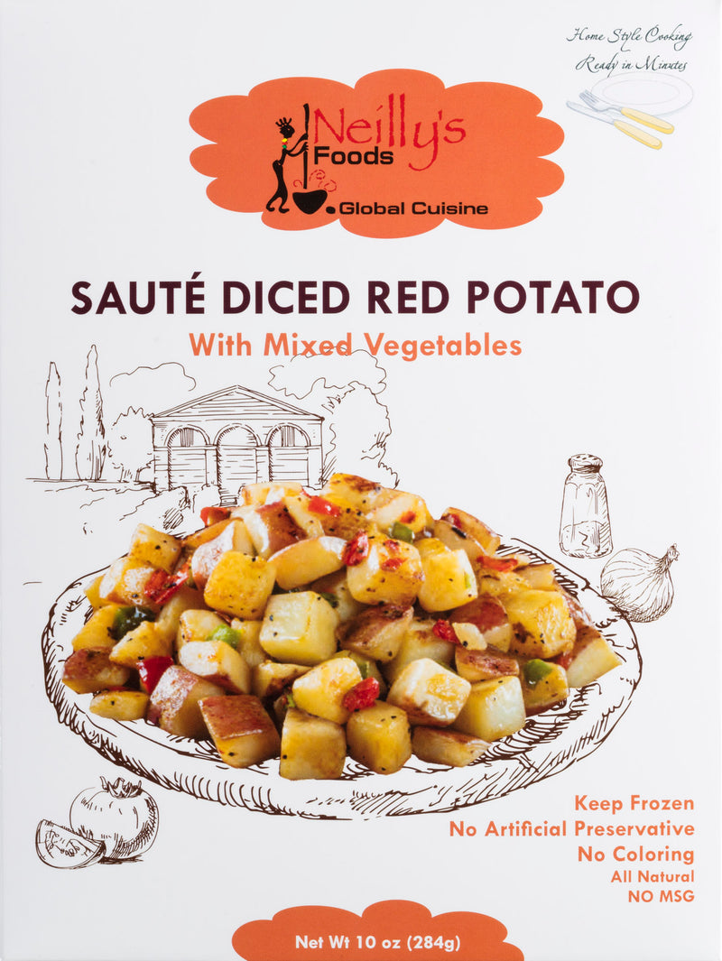 Sauté Diced Red Potato with Mixed Vegetables