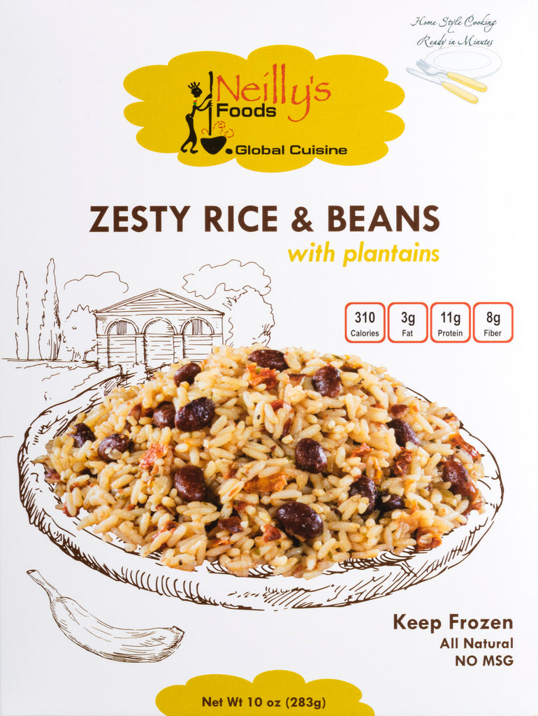Zesty Rice & Beans with Plantains