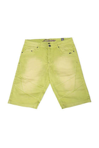 A.TIZIANO-GREG | MEN'S DENIM SHORTS-LIME