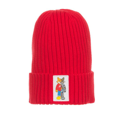 AKOO ROBOTIC KNIT HAT (RACING RED)