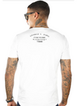 GEORGE V T-SHIRT - FLAMINGO CAR - WHITE - GV2059