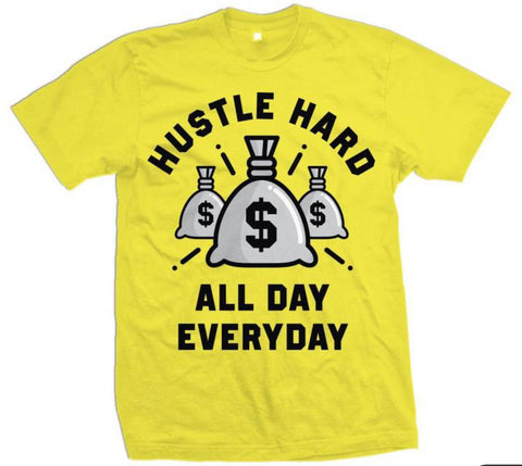 MILLION DOLLA MOTIVE- Hustle Hard All Day Everyday-Yellow