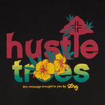 LRG-HUSTLE FLOWER TEE BLACK