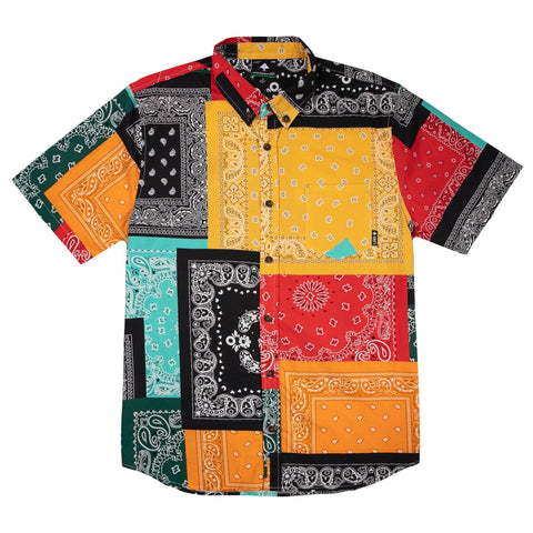 LRG-STRICTLY ROOTS SHORT SLEEVE WOVEN MULTI