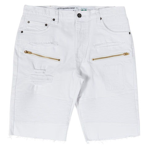 RALLY DISTRESS SHORTS WHITE