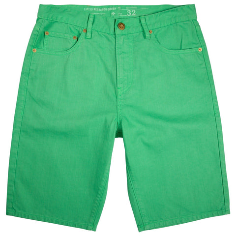 LRG-BEDLAND OVERDYE DENIM SHORTS SPRING GREEN