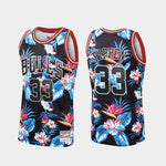 Mitchell & Ness-Chicago Bulls Scottie Pippen Floral Fashion Black Jersey