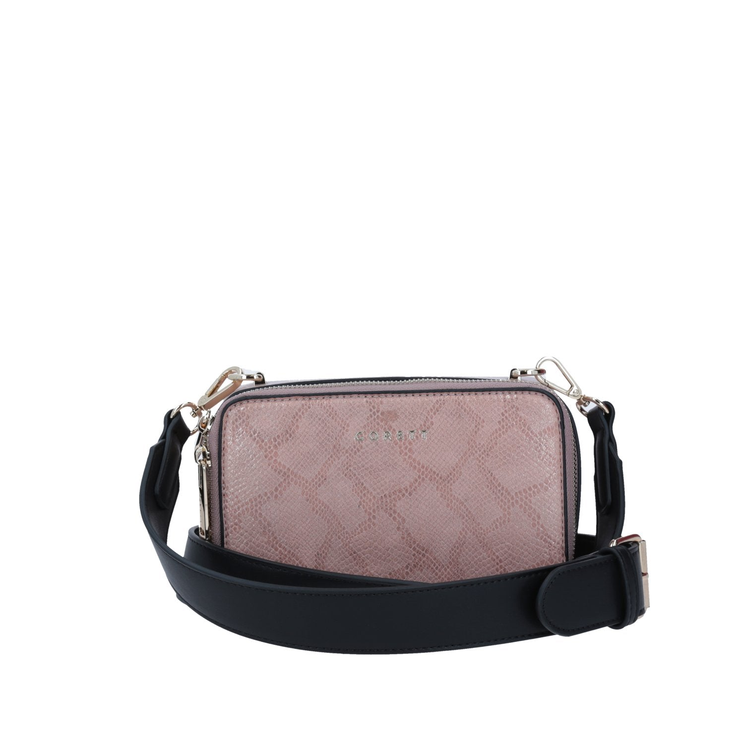 Crossbody Gorett Color Rosa Con  Animal Print