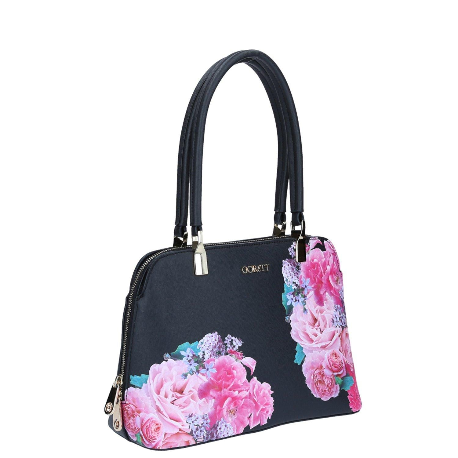 Tote Floral Negro