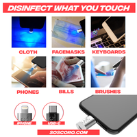 Portable ULTRA-VIOLET Disinfectant / Sterilizing Lamp (iPhone and Android)
