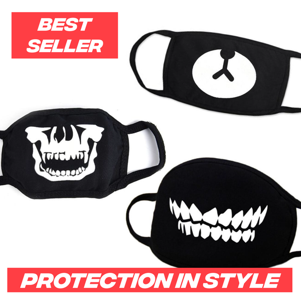 Washable / Reusable Themed Anti-Virus Protection Facemasks
