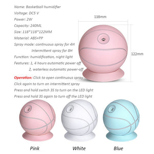 Creative Basketball Humidifier Ultrasonic Mini air Humidifier - The Herb Garden.