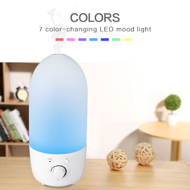 3.2L Ultrasonic Air Humidifier electric oil - The Herb Garden.