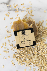 Vegan Oat + Honey Coconut Milk Soap By The Herb Garden. - The Herb Garden.