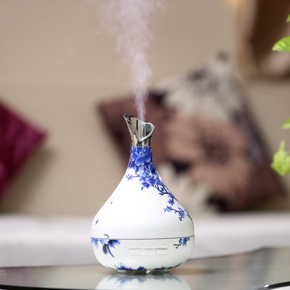 Ultrasonic Cool Mist Vase Humidifier with 4 Timer Settings - The Herb Garden.
