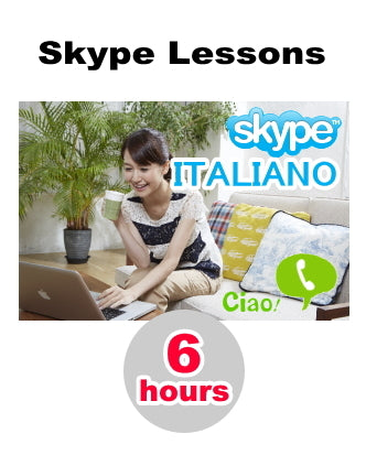 Skype Lesson : 6 hours of conversation -  Learn Italian online from home!
