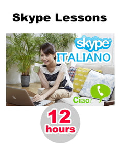 Skype Lesson : 12 hours of conversation - Learn Italian online from home!