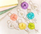 Pack of 6 magnet roses and noose