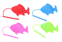 Load image into Gallery viewer, Silicone tea infuser for kids. Tiny tots tea infusers, rainbow tea infuser, Australian organic tea. Infuse me fun tea infuser, colourful tea infuser, rainbow tea infuser. good quality tea infuser. loose leaf tea infuser. infuser, water infuser