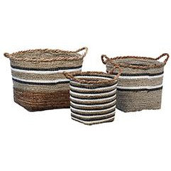 Striped Sea Grass Baskets