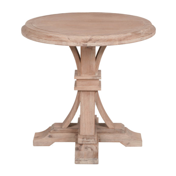 Devon Round Accent Table - Stone Wash