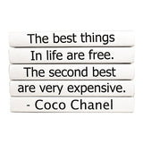 "Coco Chanel ""The Best Things in Life"" Book Stack"
