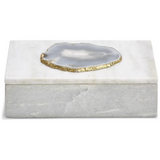 Geode Accented Marble Box