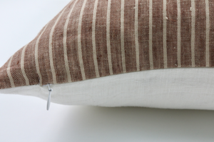 Umber Stripe Pillow 22 x 22