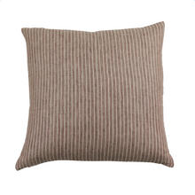 Load image into Gallery viewer, Umber Stripe Pillow 22 x 22