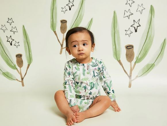 Halcyon Gift Pack Long Sleeve Bodysuit - Fern Gully