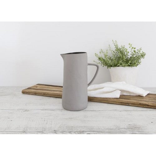 Flax Kitchen Jug with Handle 24cm - Grey