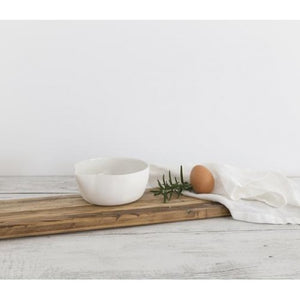 Flax Bowl with Pourer 14cm - Snow