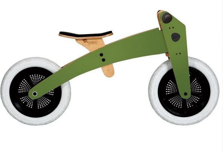 Wishbone 2 in 1 Balance Bike - GREEN