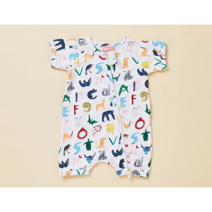 Halcyon Nights Short Sleeve Zip - ABC of Animals