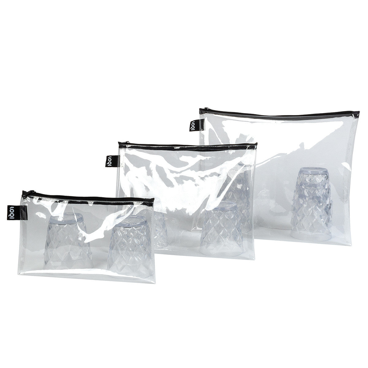 Loqi Bag Zip Pockets 3pk - Transparent