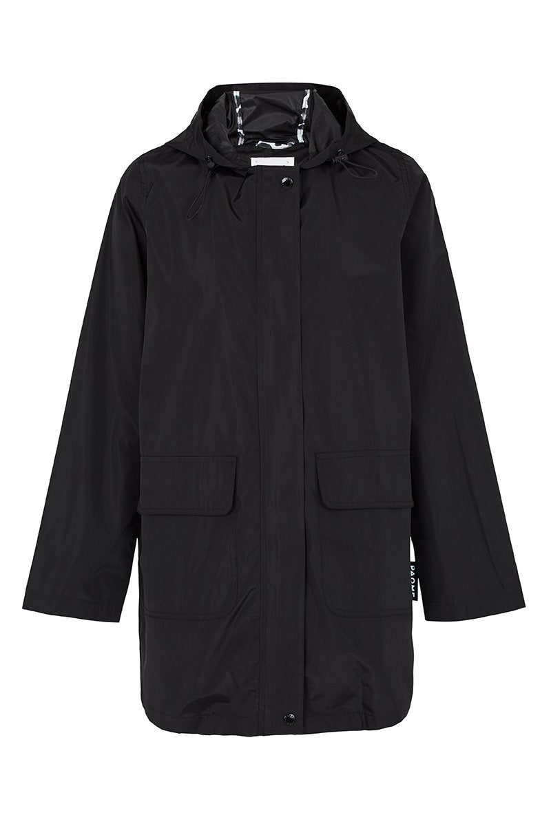 Paqme Raincoat 3/4 Length - BLACK
