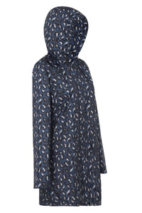 Paqme Raincoat 3/4 Length - GEO BLUE