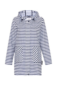 Paqme Raincoat 3/4 Length - ZIG ZAG STRIPE