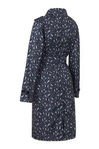 Paqme Raincoat Trench - Geo Blue