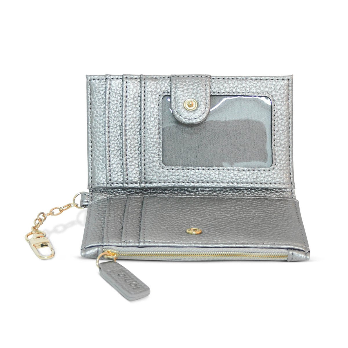 Tonic Luxe Keychain Wallet - Silver