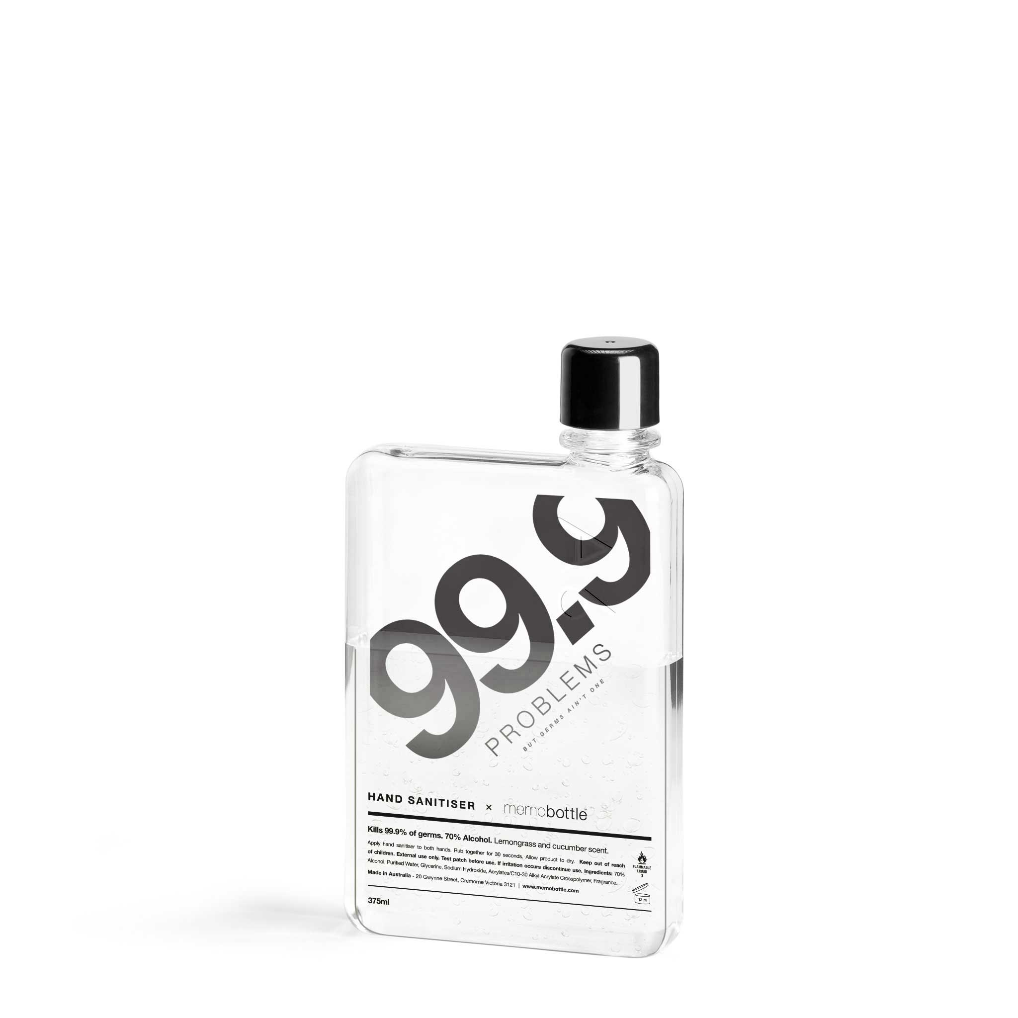 Memobottle - 99.9% Problems A6 Sanitiser