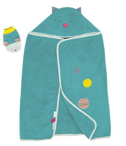 Moulin Roty - Hooded Towel/Mitt Set