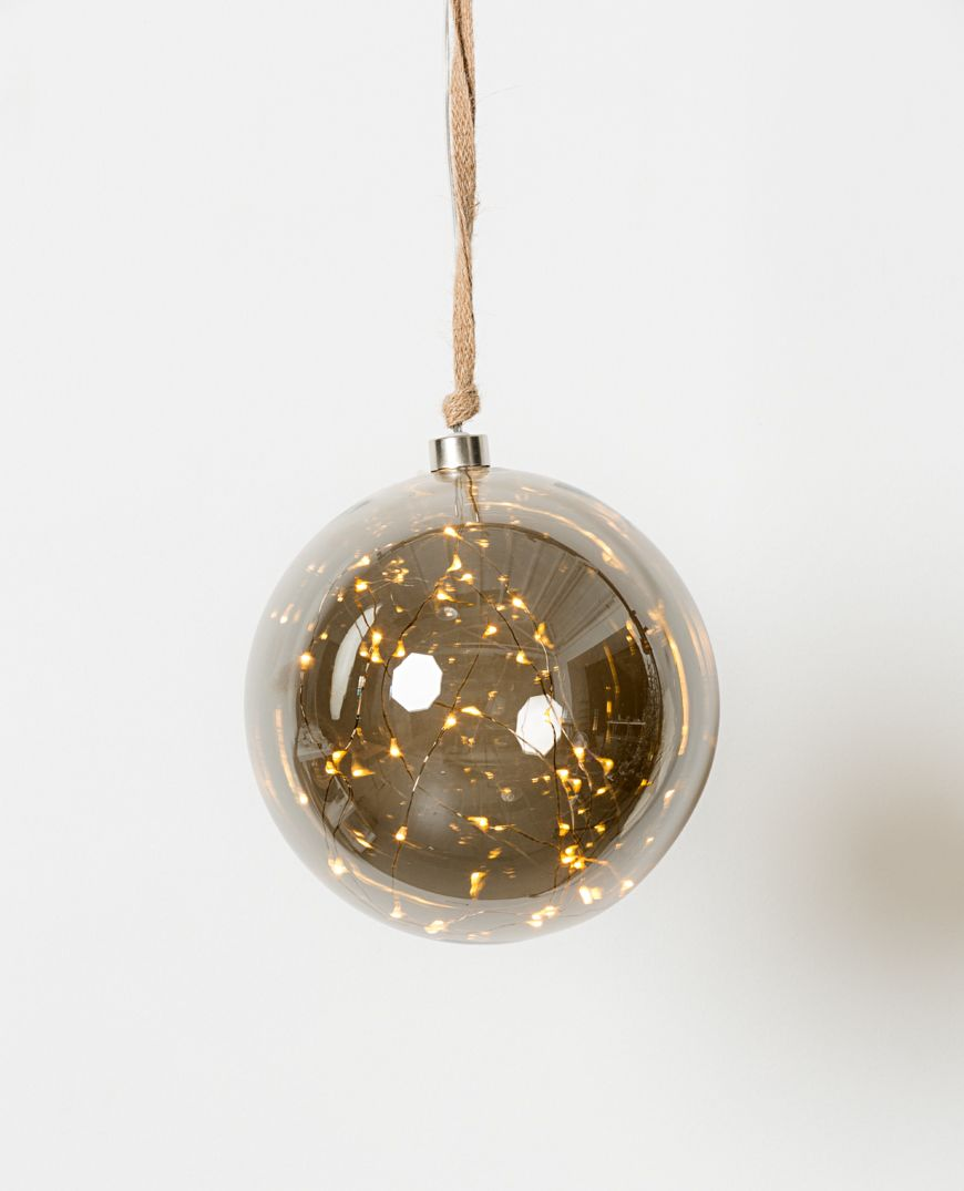 Papaya Holiday LED Hanging Glass Ball
