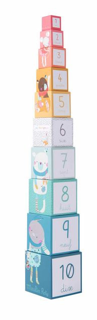 Moulin Roty Trop Beaux - Stack Up Cubes