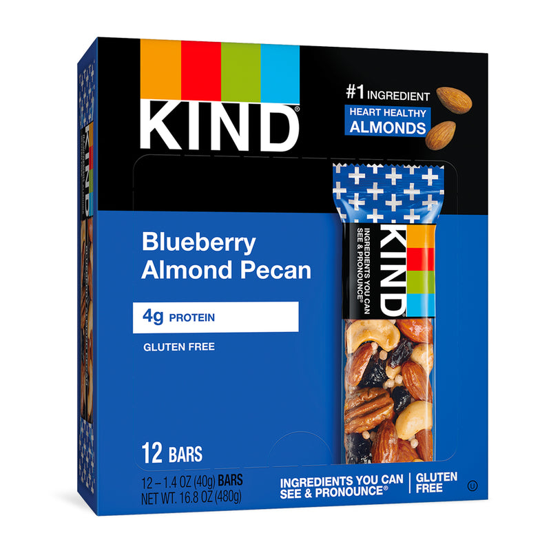 Blueberry Pecan Bars, 1.4 oz,  12 count
