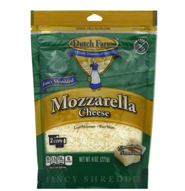 Shredded Mozzarella, 8 oz, 12 count