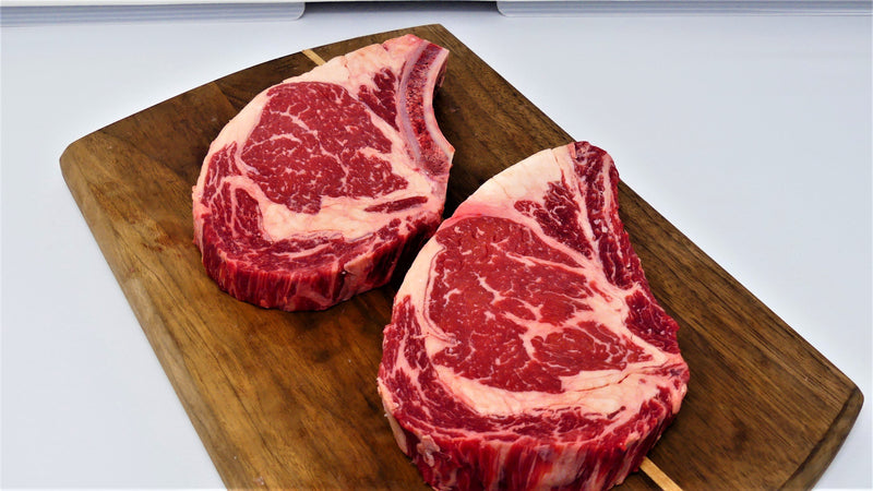 USDA Prime Cowboy Ribeye Steaks, 4/18oz