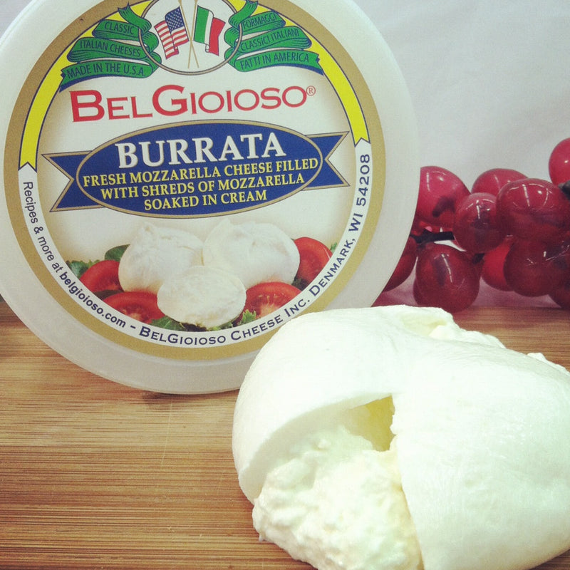 Burrata Cheese 4 oz, 8 oz, 6 count